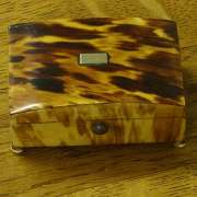Large Blonde Tortoise Shell Box C.1820 - CC50