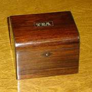 Rosewood Single Tea Caddy C.1880 - CC46