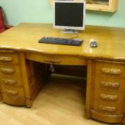 Solid Oak Desk With Massive Proportions - AF18