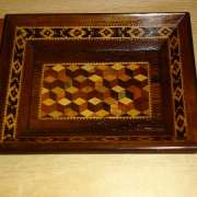 Tunbridge ware pin tray - twpt150